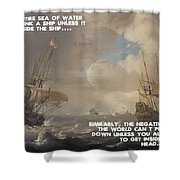 Motivational Quotes - Defiance Shower Curtain