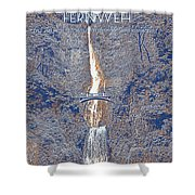 Motivational Travel Poster - Fernweh 2 Shower Curtain