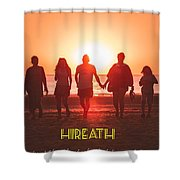 Motivational Travel Poster - Hireath Shower Curtain