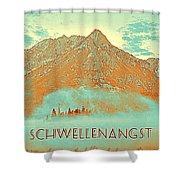Motivational Travel Poster - Schwellenangst 2 Shower Curtain