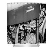 Moto Ducati Motorcycle -2115bw Shower Curtain