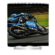 Moto Grand Prix Shower Curtain