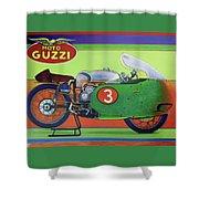Moto Guzzi V8 Shower Curtain