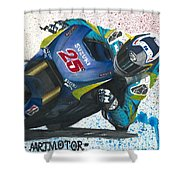Motogp - Maverick Full Gas  Shower Curtain