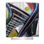 Motorcycle Abstract Engine 1 Shower Curtain