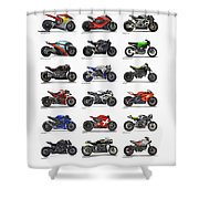 Motorcycle Concepts 2017-2018 Shower Curtain