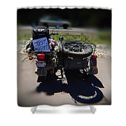 Motorcycle Love Story Shower Curtain