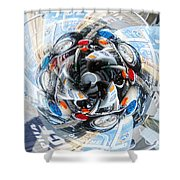 Motorcycle Mixup Shower Curtain