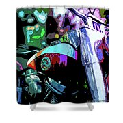 Motorcycle Poster IIi Shower Curtain