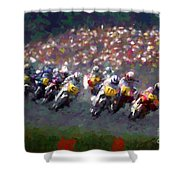 Motorcycle Race Shower Curtain