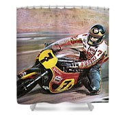 Motorcycle Racing Shower Curtain