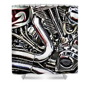 Motorcycle Reds Shower Curtain