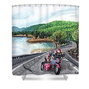 Motorcycle Ride Shower Curtain