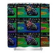 Motorcycle Road Race Shower Curtain