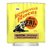 Motorcycle Speedway Races Shower Curtain