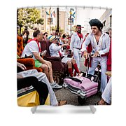 Motorized Recliners And Elvis - Nola Shower Curtain