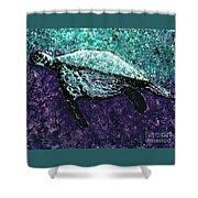 Mottled Sea Turtle  Shower Curtain