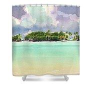 Motu Rapota, Aitutaki, Cook Islands, South Pacific Shower Curtain