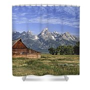 Moulton Barn In The Tetons Shower Curtain