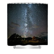Moulton Barn Milky Way Shower Curtain