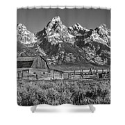Moulton Cabin - Grand Tetons II Shower Curtain