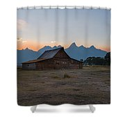 Moulton Ranch Sunset On Mormon Row Shower Curtain
