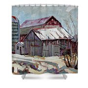 Moultons Barns Shower Curtain