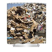 Mound Of Recyclables Shower Curtain
