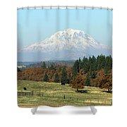 Mount Adams Pasture Land Shower Curtain