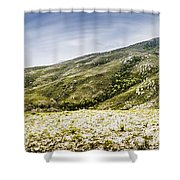 Mount Agnew Landscape In Tasmania Shower Curtain