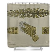 Mount And Cup Caster Shower Curtain