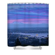 Mount Baker And Vancouver Bc At Dawn Shower Curtain