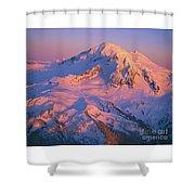 Mount Baker At Sunset Shower Curtain