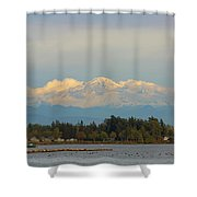 Mount Baker From Semiahmoo Bay In Washington Shower Curtain