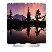 Mount Baker Sunrise Reflection Shower Curtain