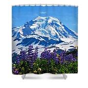 Mount Baker Wildflowers Shower Curtain
