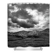 Mount Bierstadt Black And White Shower Curtain