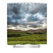 Mount Bierstadt Cloudy Evening 2x1 Shower Curtain