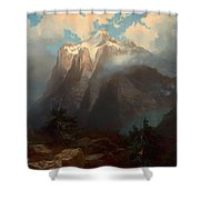 Mount Brewer From King's River Canyon - California Shower Curtain