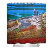 Mount Cadilac Path Shower Curtain