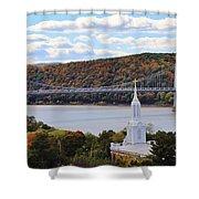 Mount Carmel And The Mid Hudson Bridge Shower Curtain
