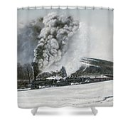 Mount Carmel Eruption Shower Curtain