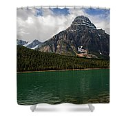 Mount Chephren From Waterfowl Lake - Banff National Park Shower Curtain