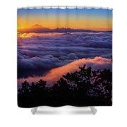 Mount Constitution Sunrise Shower Curtain