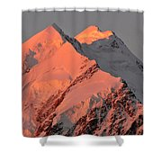 Mount Cook Range On South Island In New Zealand Shower Curtain