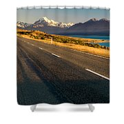 Mount Cook Road Shower Curtain