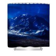 Mount Denali Moonlight Alaska Shower Curtain