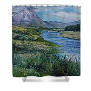 Mount Errigal Co. Donegal Ireland. 2016 Shower Curtain