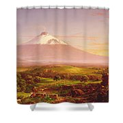 Mount Etna Shower Curtain