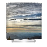 Mount Evans Painterly 1 Shower Curtain